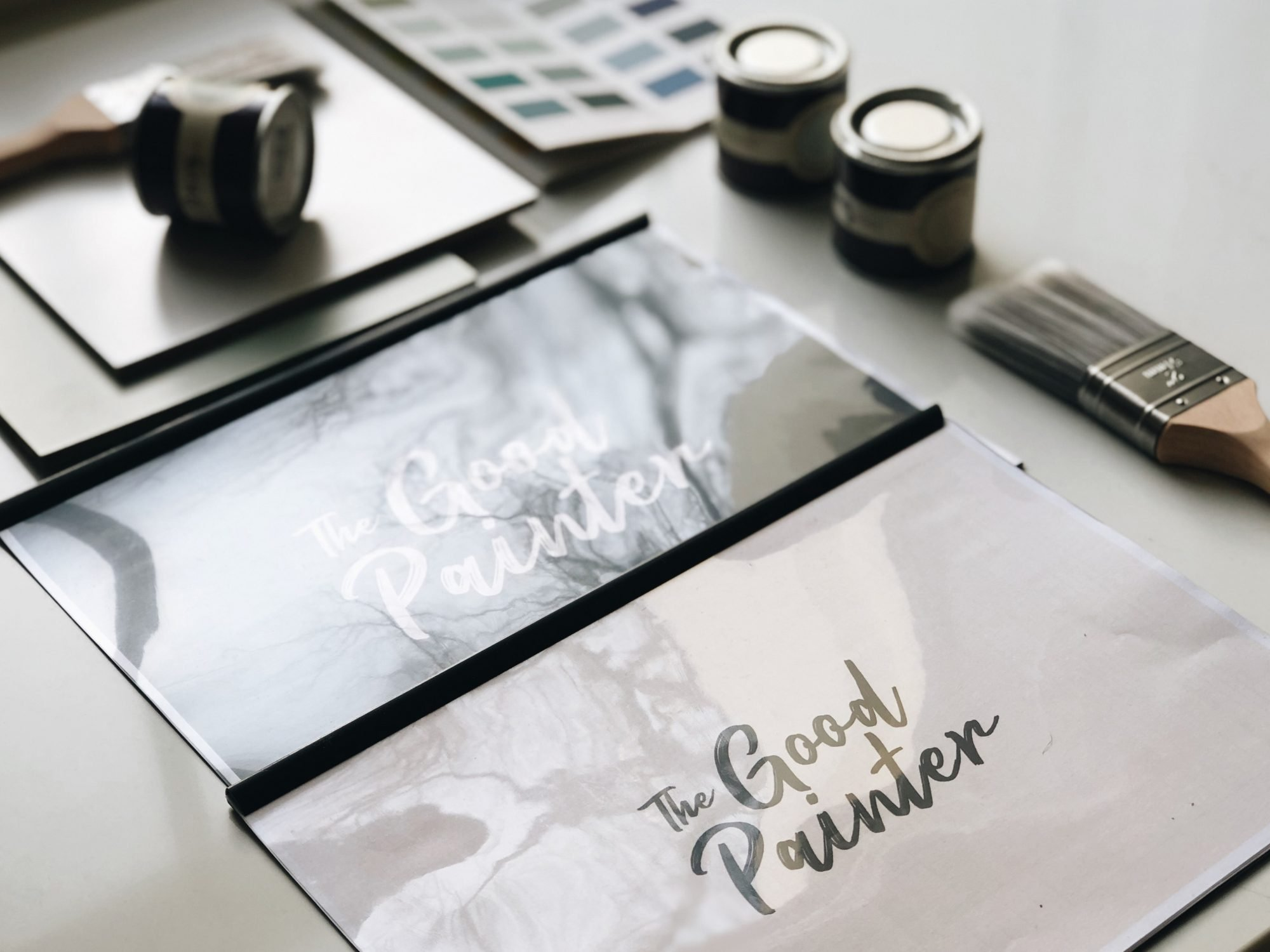 the good painter flatlay -choosing the perfect colour combination for a project