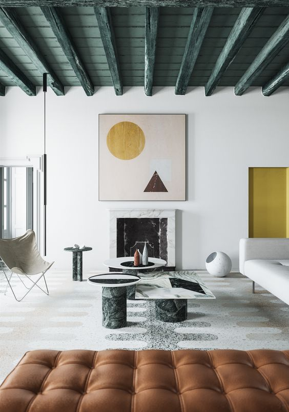residental painting and decorating for light living room with white painted walls and ceiling, comfy furniture