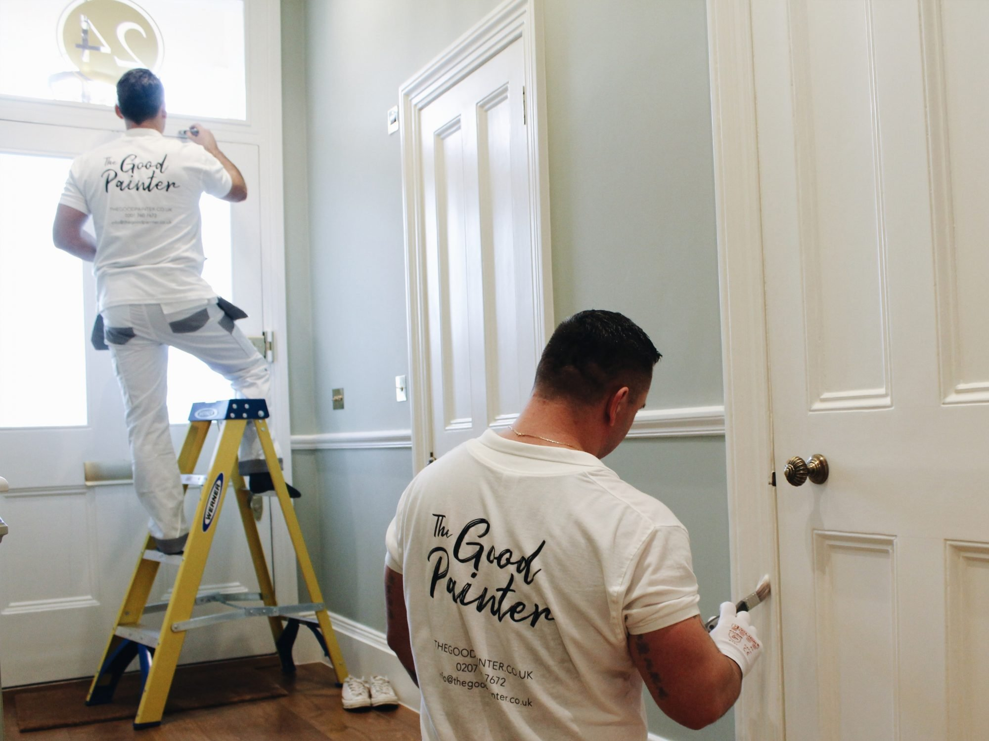 The Good Painter team-painting in progress -painters and decorators based in London