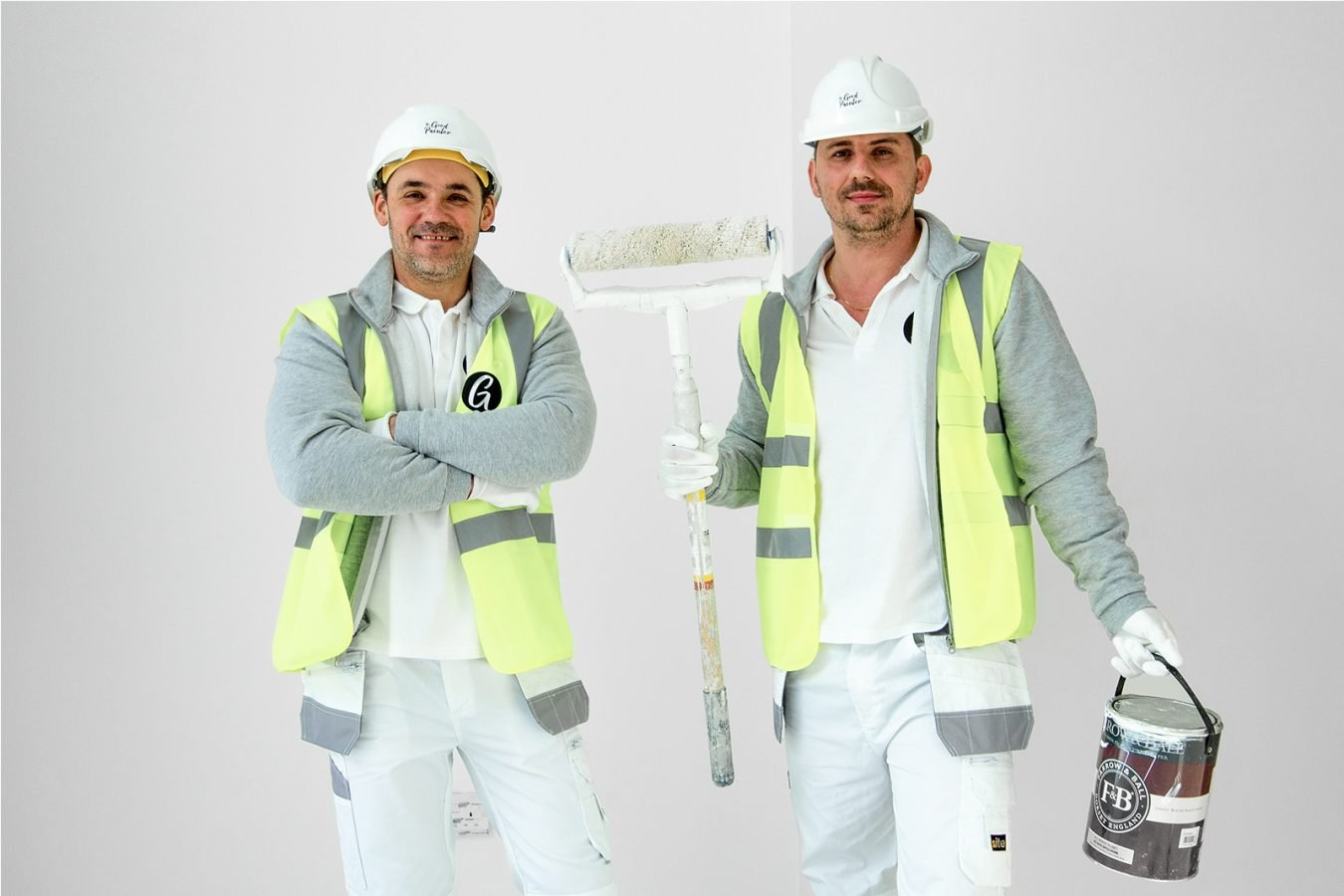 The Good Painter team with Farrow and Ball painting -painters and decorators based in London