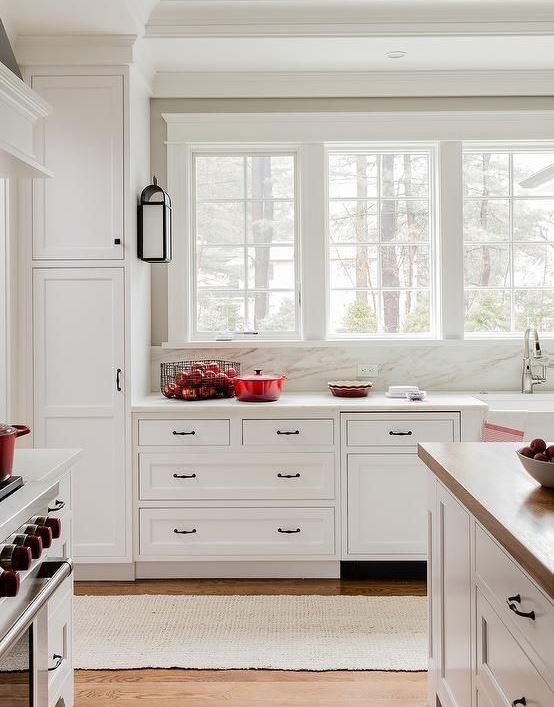 residential painting services for kitchen with white painted cabinets