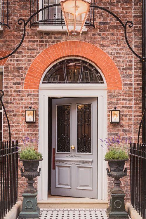 grey painted front door in London