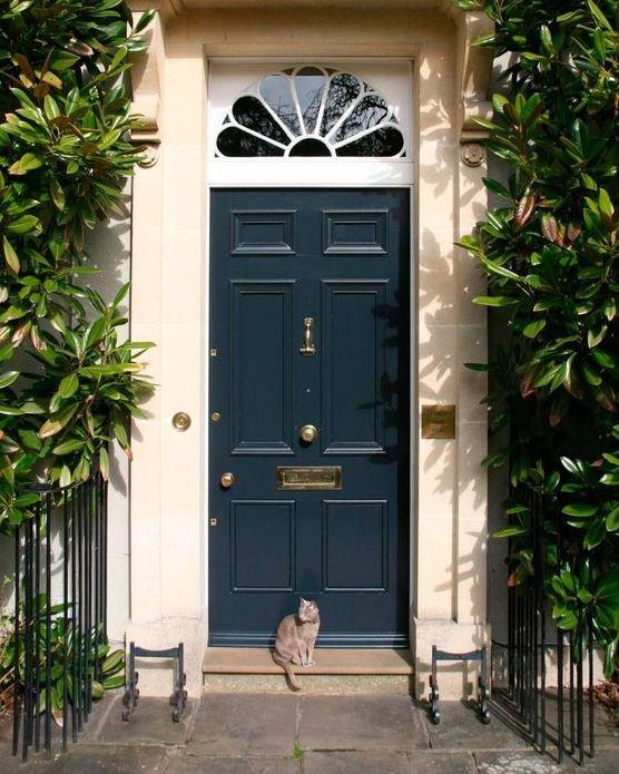 dark navi painted front door in London