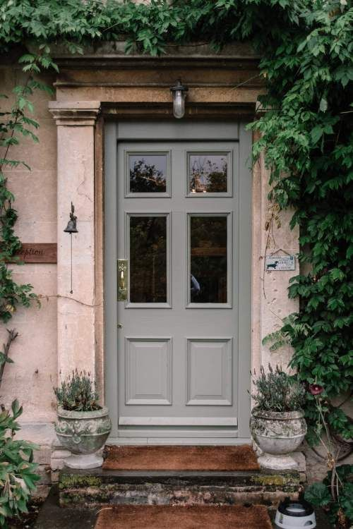grey painted front door in London
