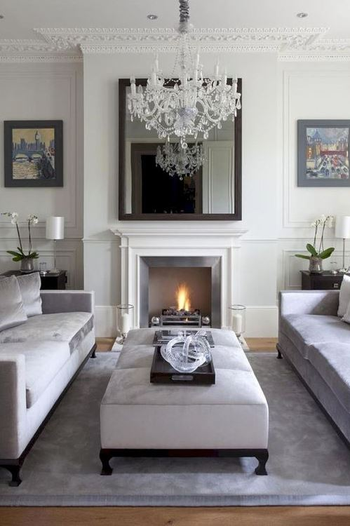residential painting and decorating services in London for spacious living room painted in neutral colour scheme