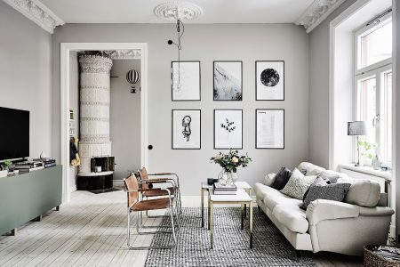 Residential Painting And Decorating Services For Spacious Living Room Painted Grey
