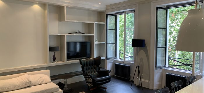 Painting And Decorating A London Investment Property In Paddington - Open Plan Kitchen Living Room