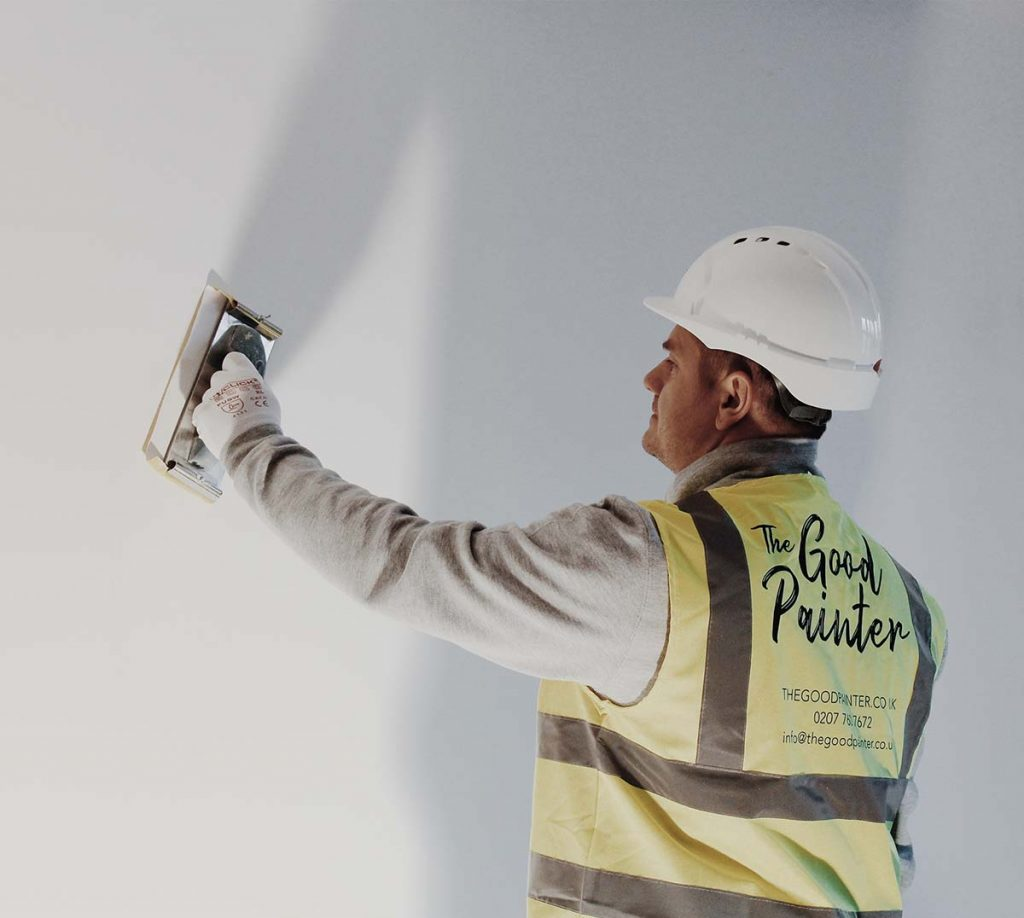 commercial painter and decorator fixing wall london thegoodpainter