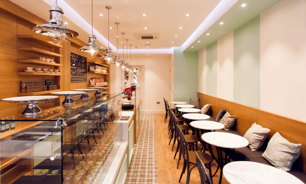 picture of cafe in london after interior painting and decorating by the good painter