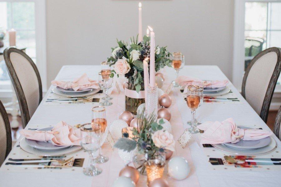 table decor for christmas