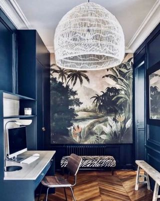 Have you kept your home office from last year?  ⠀⠀⠀⠀⠀⠀⠀⠀⠀ If you have, then maybe we can inspire you to have it renovated into something which will be convenient, elegant and high-standard so you are able to work from home whenever possible.  ⠀⠀⠀⠀⠀⠀⠀⠀⠀ We find a gorgeous office design from @caroline.andreoni, with carefully considered paint colour and a wallpaper to elevate.  ⠀⠀⠀⠀⠀⠀⠀⠀⠀ What small changes can you apply?  ⠀⠀⠀⠀⠀⠀⠀⠀⠀ 🔹Find a motivating colour to encourage high-productivity when working.  ⠀⠀⠀⠀⠀⠀⠀⠀⠀ 🔹Ensure your lighting source is of high-quality and create a focal point.  ⠀⠀⠀⠀⠀⠀⠀⠀⠀ 🔹Purchase comfortable furniture for compatibility and cosiness.  ⠀⠀⠀⠀⠀⠀⠀⠀⠀ How much do you focus on your office? . . . . . . . . . . #thegoodpainter #londoninteriordesigner #londonhome #londonproperty #londondesigner #londonpainting #londonapartment #londonhouses #londoninteriordesign #londonpainter #londonpainting #workspacedesign #workspaceinspo #workspacegoals #workspaceinspiration  #workspacestyling #officedecor #officedesign #officespace #officedecoration #officeinteriors #officeinspiration #homeofficedecor #homeofficeideas #homeofficedesign #homeofficegoals #homeofficelife #bluewall #blueinterior #bluepainting