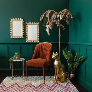 How to create an intriguing interior scheme?  Create colour contrast with furniture!  Complementary schemes can be accomplished through thoughtful painting and decorating, using the 80-20 method and analysing the tones you'd like.  For @audenzahome, using a jewel-tone green and terracotta, warm furnishings create that gorgeous contemporary design.  What two colours would you choose for your scheme?  . . . . . . . . . . #colourpalette #colourscheme #playwithcolors #greenlove #shadesofgreen #paintcolors #colourpaletteinspiration #colourinspiration #crashbangcolour #colorismyjam #thegoodpainter #londoninteriordesigner #londonhome #londonproperty #londondesigner #londonpainting #londonapartment #londonhouses #londoninteriordesign #londonpainter #londonpainting #colourscheme #colourmyhome #interiorcolours #interiorcolourscheme #colourschemes